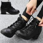 Block-heel Ankle Military Boots
