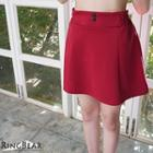Brushed-fleece A-line Skirt