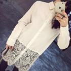 Lace Panel Long Shirt