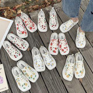 Fruit Print Sneakers / Mules