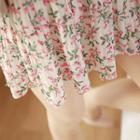 Floral Pleated Chiffon Mini Skirt