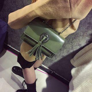 Tasseled Chained Shoulder Bag