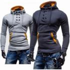 Double-breasted Hooded Pullover