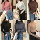 Long Sleeve Mock Neck Top / Long Sleeve Turtleneck Top
