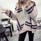 Stripe Chunky Knit Cardigan
