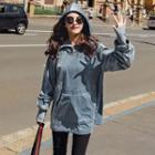 Long Hooded Velvet Jacket