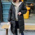 Hooded Long Puffer Jacket