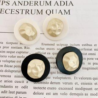 Acrylic & Alloy Disc Earring
