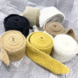 Fluffy Knit Belt