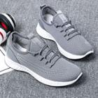 Lettering Lace-up Athletic Sneakers
