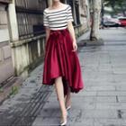 Dip-back Long Skirt