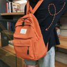 Retro Canvas Plain Backpack
