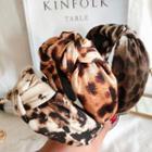 Leopard Print Knot Headband