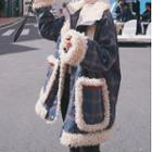 Plaid Faux Fur Padded Jacket