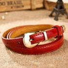 Patent Buckled Slim Belt