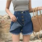 Wrap Denim Shorts