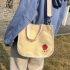 Fruit Embroidered Canvas Crossbody Bag
