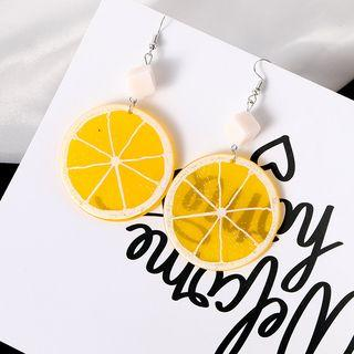 Lemon Dangle Earring 1 Pair - As Shown In Figure - One Size