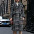 Plaid Tweed Long Coat