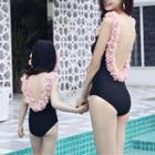 Family Matching Floral Applique Swimsuit