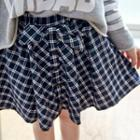 Bow-accent Plaid Skirt