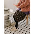 Accordion-pleat Midi Check Skirt One Size