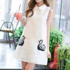 Organza Sleeveless Collared Dress