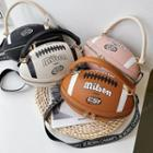 Faux Leather Rugby Crossbody Bag