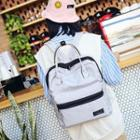 Contrast Zipped Nylon Backpack
