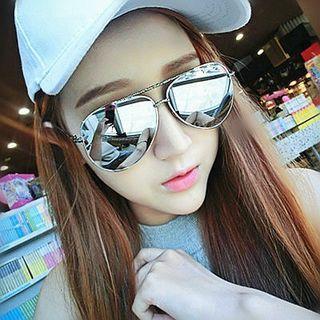 Mirrored Oversized Sunglasses
