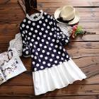 Polka-dot Long-sleeve Dress