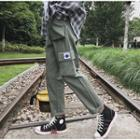 Cropped Patch Cargo Pants