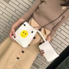 Smiley Print Crossbody Bag