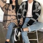 Couple Matching Plaid Cardigan