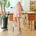 Layered A-line Mini Skirt