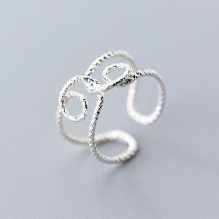 925 Sterling Silver Layered Ring S925 - Ring - Silver - One Size