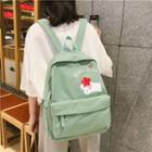 Canvas Flower Print Backpack