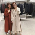 Long Single-breasted Trench Coat