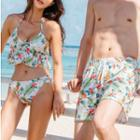 Couple Matching Floral Print Tankini / Beach Shorts