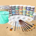 Set: Acrylic Paint / Brush / Palette