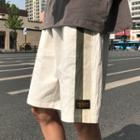 Striped Color Panel Sweat Shorts