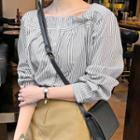 Square-neck Stripe Shirt