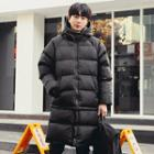Hooded Goose-down Long Puffer Coat