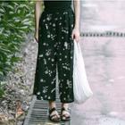 Floral Cropped Wide Leg Pants