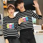 Couple Matching Printed Striped Sweater
