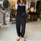 Buckle-strap Jogger Overall Pants