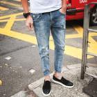 Paint Splattered Washed Jeans