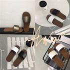 Metallic Flat Slippers
