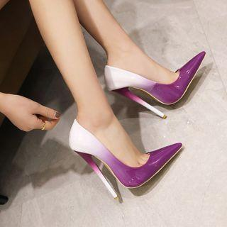 Gradient Pointed High-heel Pumps