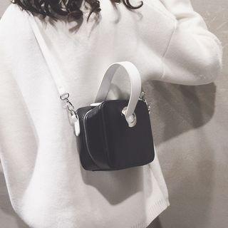 Faux Leather Square Handbag